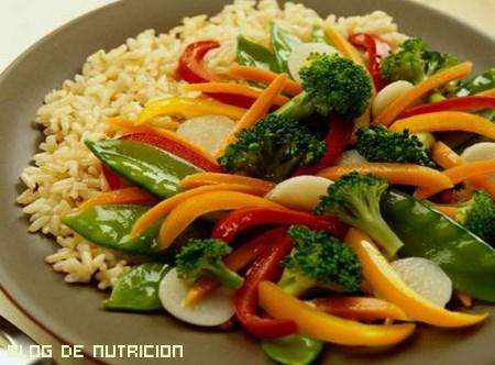 platos vegetales con vitaminas
