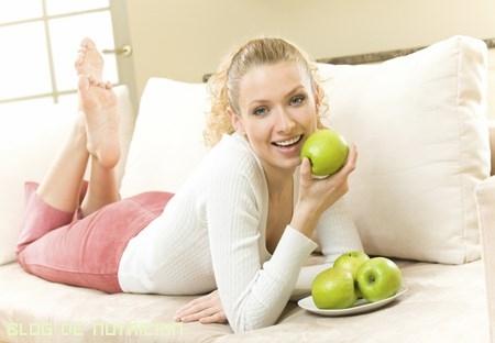manzanas para dientes sanos