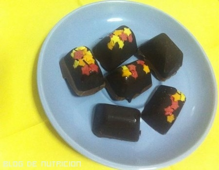 Bombones de dos chocolates