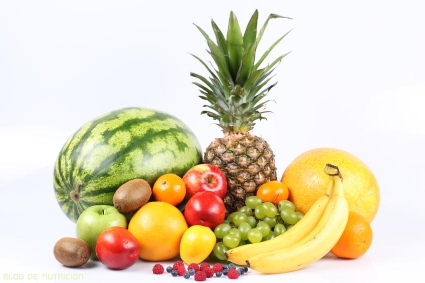Fibra en las frutas