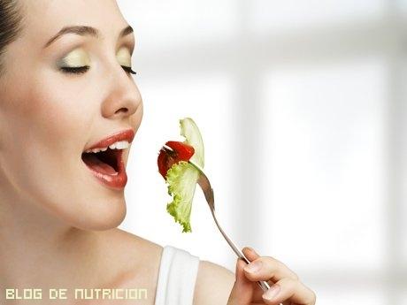 alimentos frescos en la dieta