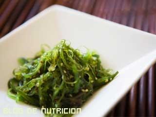 algas en la alimentación