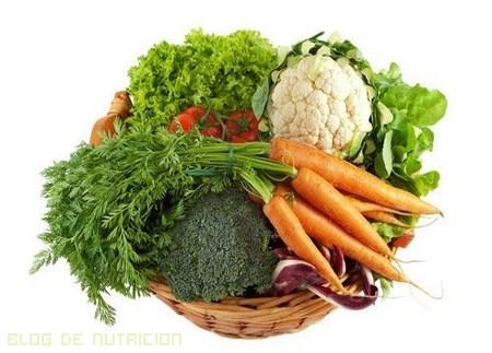 frutas y verduras para vista cansada
