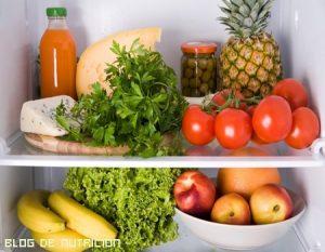 Coloca los alimentos de manera adecuada