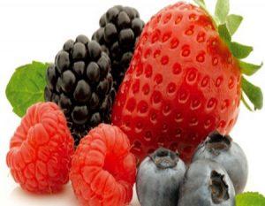 No te olvides de los frutos rojos