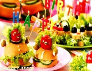 Alimentos saludables para celebrar un cumpleaños