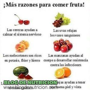 ¡Más razones para comer fruta!