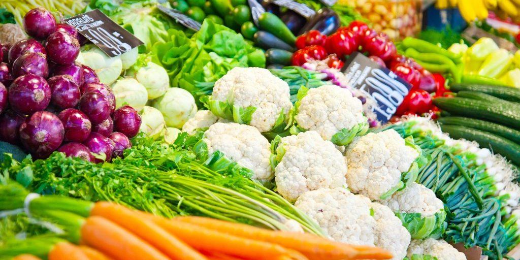 verduras en la dieta